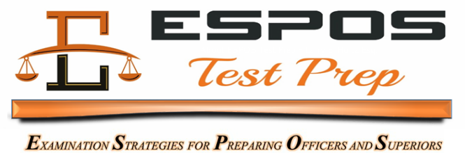ESPOS Test Prep - Police, Sheriff's & Corrections Promotional Test Preparation Courses for the NJ Civil Service Promotional Exams